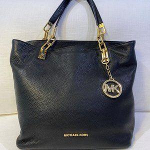 Michael Kors Black Pebbled Leather Handbag